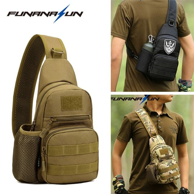 Waterproof Cross Body Chest Pack Camping Hiking Shoulder Sling Bag Backpack