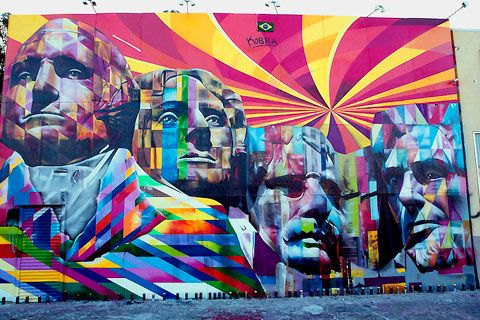 LA's giant Mount Rushmore street mural: Street Artists, Mount Rushmor, The Angel, Mountrushmor, Eduardo Kobra, 60, Eduardokobra, Street Murals, Streetart