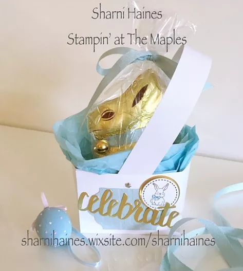 Easter Basket Tutorial...a super easy and quick basket for Easter using one A4 piece of card stock. Designed to hold a medium sized Lindt Chocolate Bunny.
