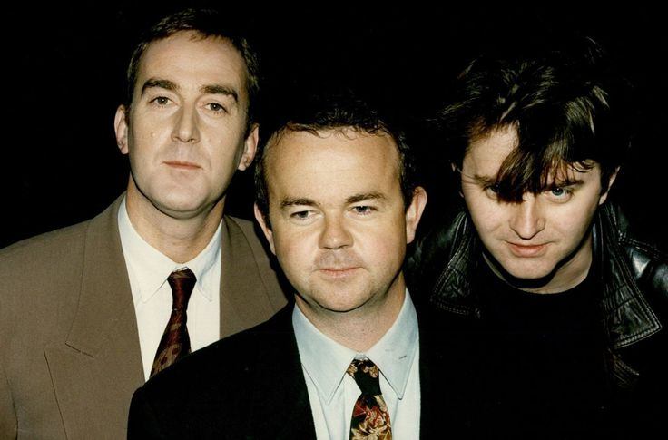 "Angus Deayton, Ian Hislop and Paul Merton from ""Have I Got News for You?"""