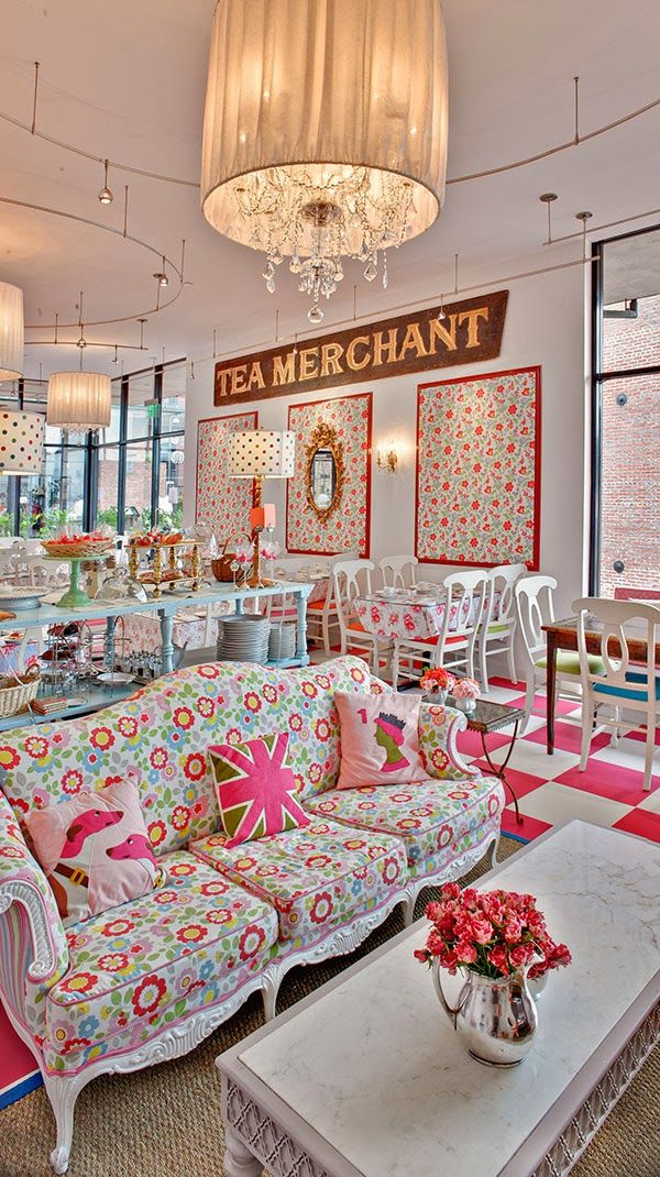 Cath Kidston filled Tea Room Crown and Crumpet - don't think I'd get away with this...this is a pretty picture for you Charlie! pity it's not in Bakewell rather than san franscisco!! Oops pressed send too soon x