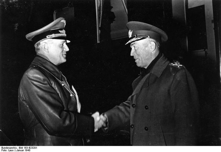 Romanian dictator Ion Antonescu and German Foreign Minister Joachim von Ribbentrop, 1943