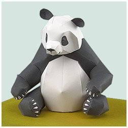 Giant Panda - Free Template http://www.yamaha-motor.co.jp/global/entertainment/papercraft/animal-global/panda/