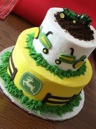 """Best John Deere cake ever!  Love the """"soil"""" on top!: Deer Cake, Food, Cake Ideas, 1St Birthday, John Deere Cakes, Party Ideas, Birthday Ideas, Birthday Cakes"""