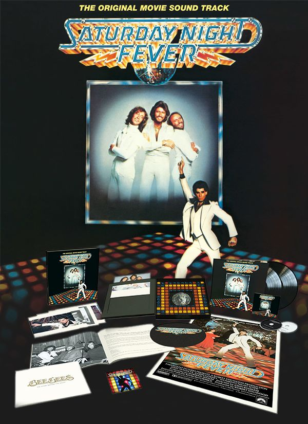 The iconic 15-times platinum soundtrack re-released as a Super Deluxe Limited Edition Box Set.  Features remastered, 2-LP, Blu-ray disc 40th Anniversary Director's Cut, 23-page book with newly-written essays by Barry Gibb, Bee Gees photos and stills from the film, plus an exclusive turntable slipmat, a set of five art prints, and a reproduction of the original Saturday Night Fever movie poster.