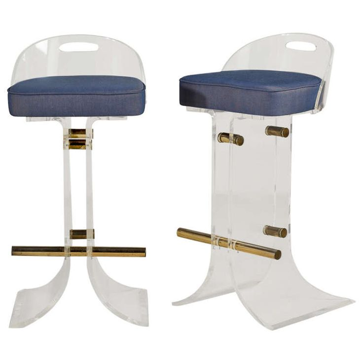 a pair of lucite bar stools by paul jones 1970s at 1stdibs