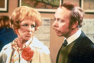 """George & Mildred:  """"The rapport between Brian Murphy and the late, great Yootha Joyce was pure television gold and will never bettered."""" #lovemark - Ado"""