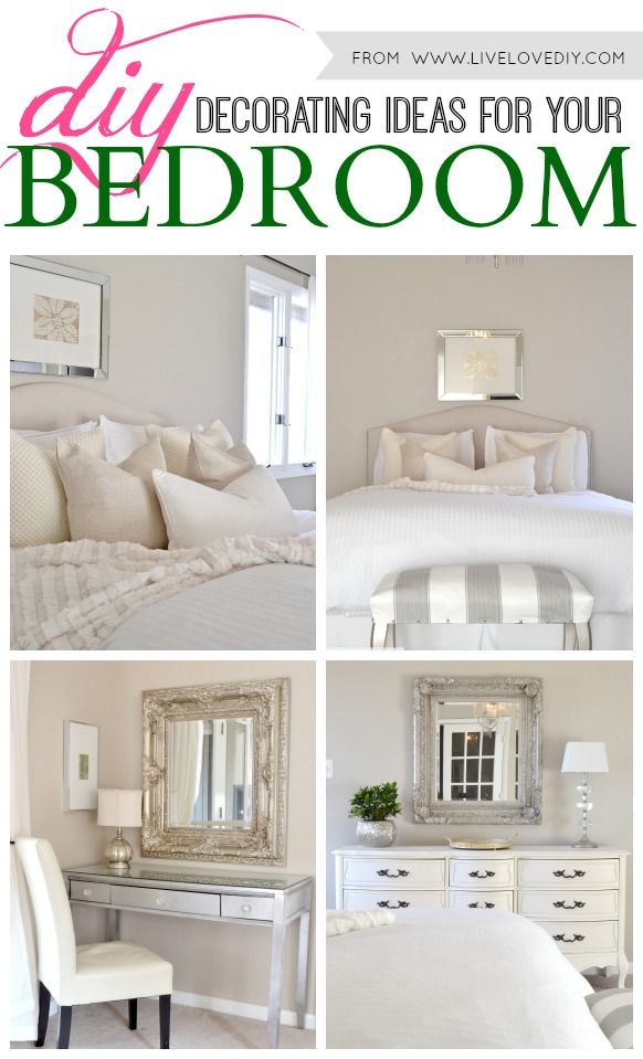 DIY decorating ideas for bedrooms. Love these!