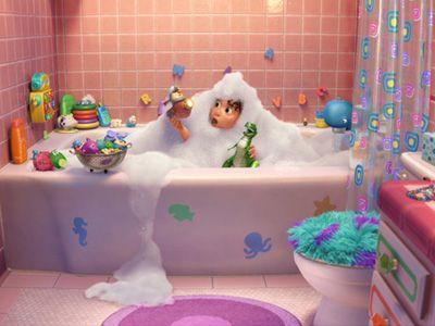 『トイ・ストーリー』最新作、特別映像公開!恐竜レックスがお風呂で大暴れ!