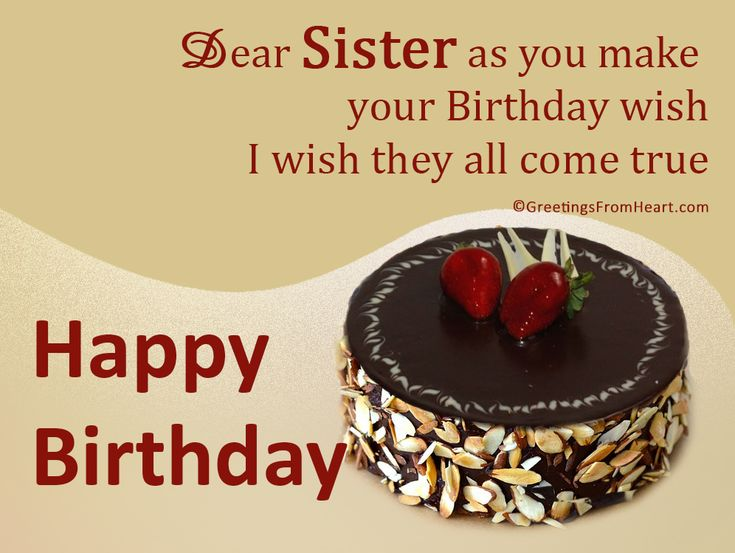 Birthday Greetings For Sister | Birthday Wishes For Sister