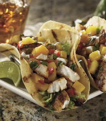 Baja Fish Tacos for Taco Tuesday at Bonefish Grill | Healthy Dining Finds | Pinterest | Bonefish ...