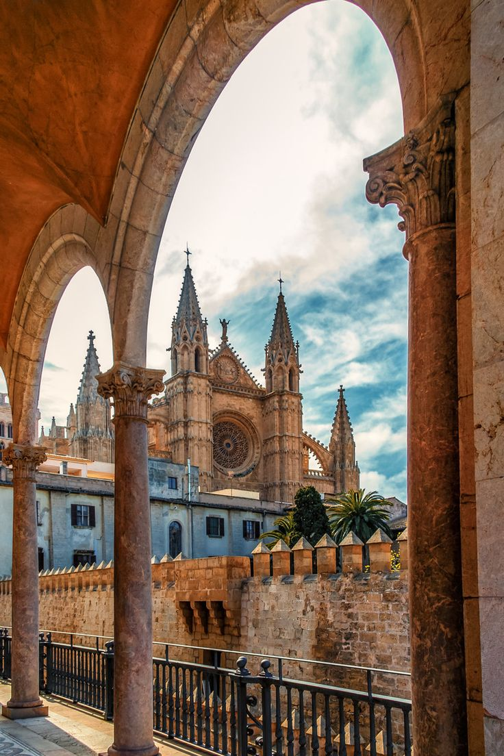 Palma Cathedral, Majorca, Spain. My grandma went here in her 20's and I would love to go.