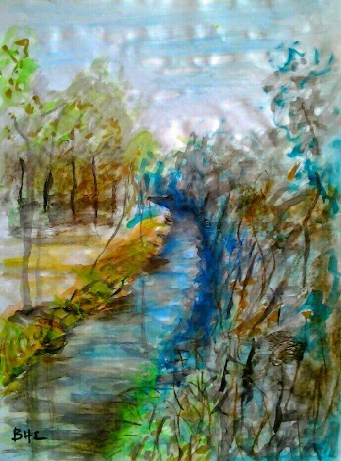 Little river (watercolor) - vissarion g