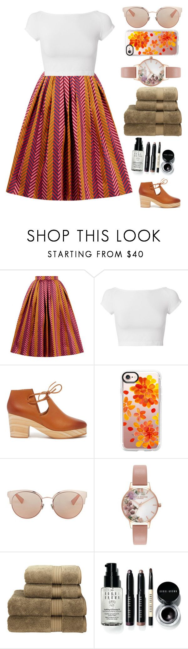 """ready for fall"" by maria143sara on Polyvore featuring House of Holland, Helmut Lang, Kelsi Dagger Brooklyn, Casetify, Christian Dior, Olivia Burton, Christy and Bobbi Brown Cosmetics"