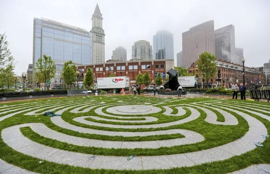 A collection of some of Boston's beautiful parks.