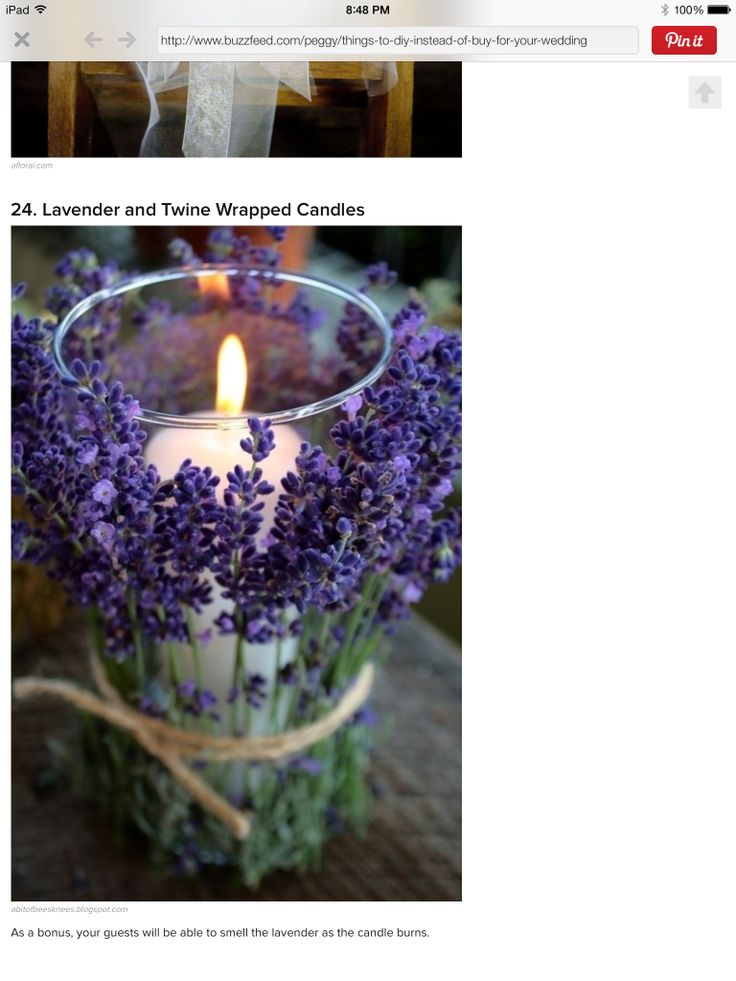 Lavender around the candle, love this!