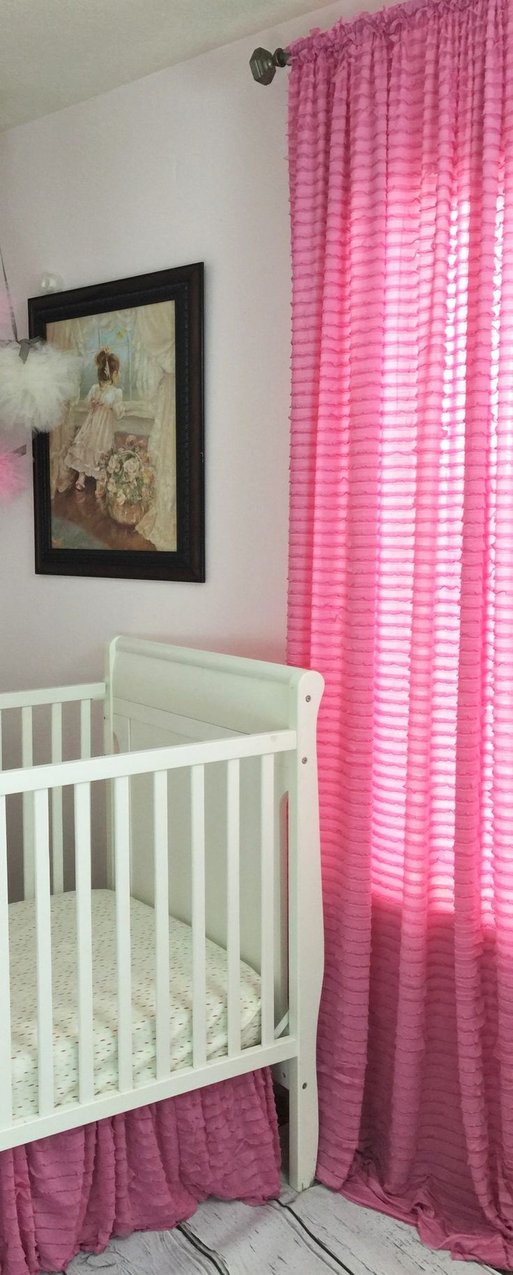 "96"" Ruffle Curtain Panel Window Treatment - Many Colors Available - Great for Bedroom, Nursery, Living Rooms!"