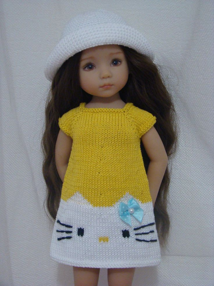 """Yellow HELLO KITTY SUMMER outfit for Dianna Effner Little Darling 13"""""""