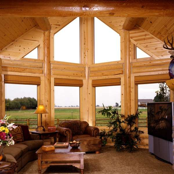 92 best Log House Interiors images on Pinterest