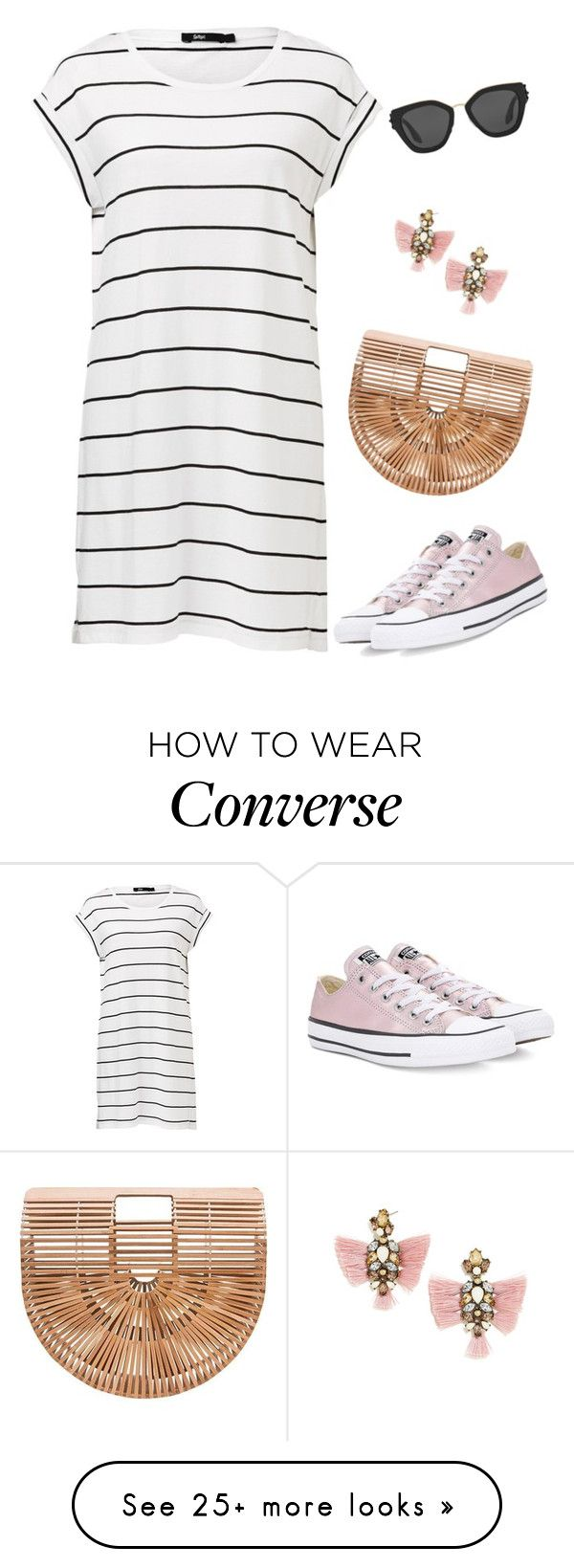"""Untitled #3661"" by elia72 on Polyvore featuring Converse, BaubleBar and Prada"