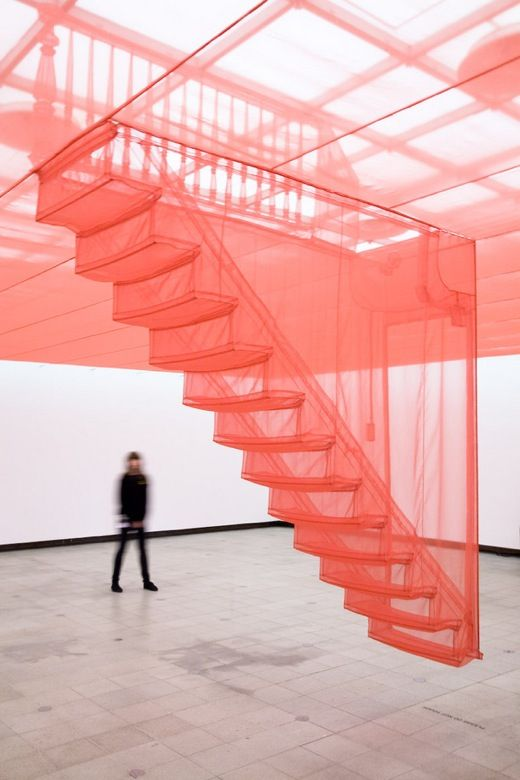 "ethereal textile art installation. beautiful. clagil: "" do-ho suh _ do ho suh's sculptures are architectural environments, beautifully and meticulously crafted out of nylon fabric. Above you see the..."