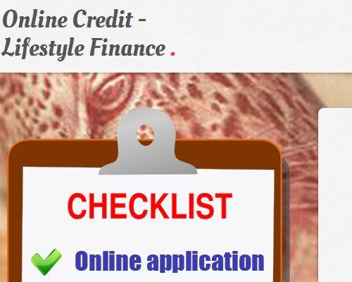 Landing Page Design - Online Credit