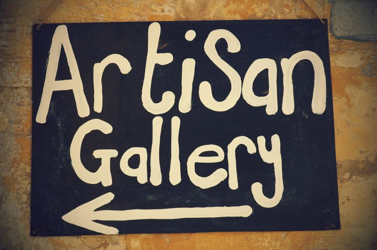 if you ever need to find the gallery, here is one of our signs, as we are tucked down a side ally