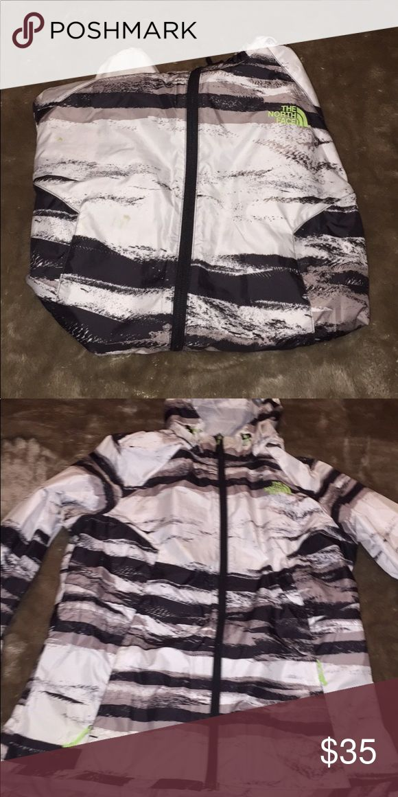rain jacket (SALE) light weight stylish rain jacket. has 2 small spots on the front but i'm going to stain treat it and see if they come out! fits size large as well North Face Jackets & Coats