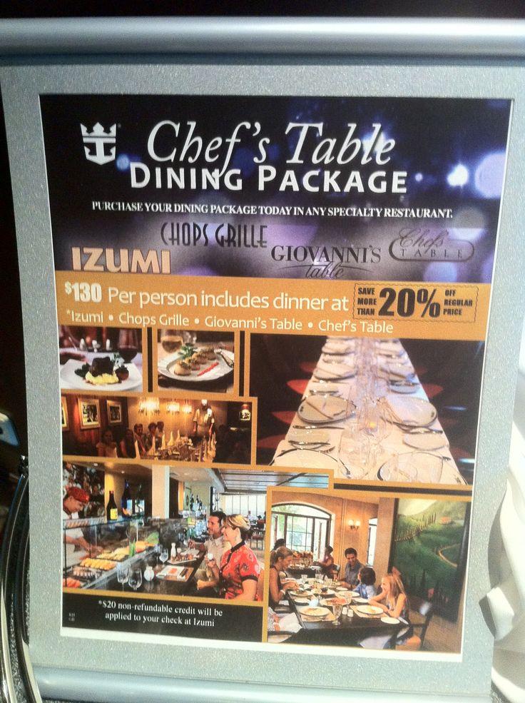 Chefs Table Dining Package On Royal Caribbean International Grandeur