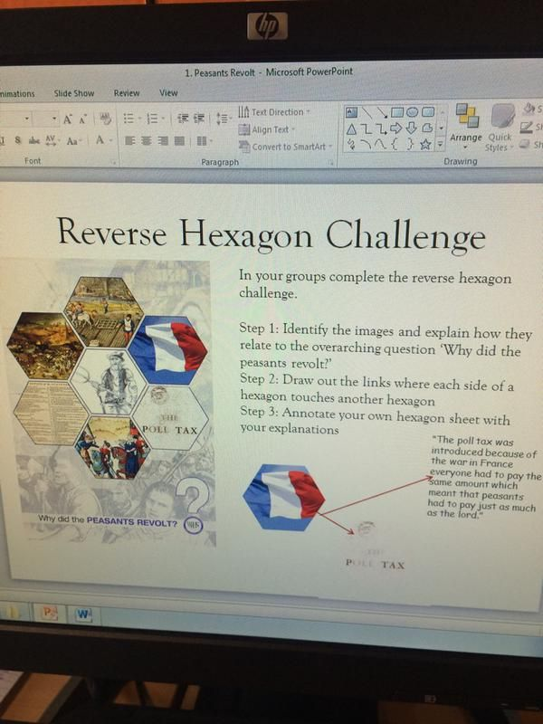 "misscs on Twitter: ""Year 7's first go at reverse #SOLO hexagons inspired by @Jivespin #SoloTaxonomy #pedagoo #ukedchat #historyteacher http://t.co/f6HQcMmMBA"""
