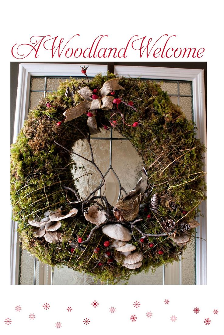 """I'm embracing all things natural for my Christmas decorations this year and I'm calling it my """"Woodland Christmas"""". I got the idea for m..."""