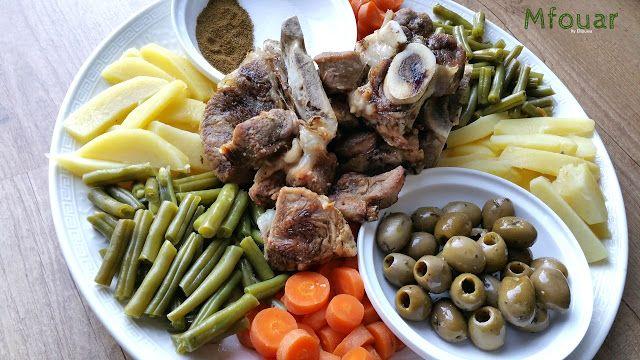 Ellouisa: Mfouar (Marokkaans gestoomd vlees)
