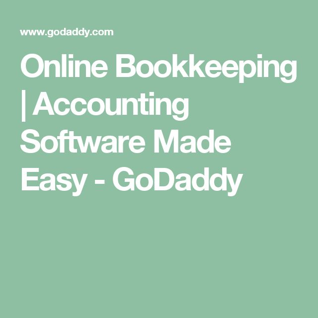 Online Bookkeeping | Accounting Software Made Easy - GoDaddy