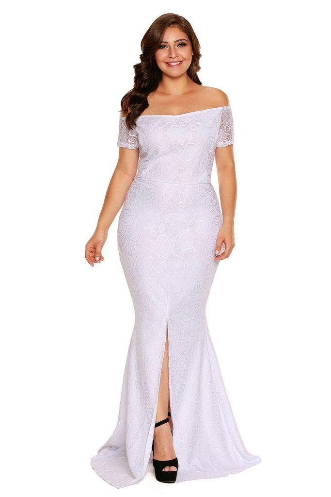 1f54d938a9017 Plus Size Off Shoulder Lace Dress – Curvy Fashion Queen