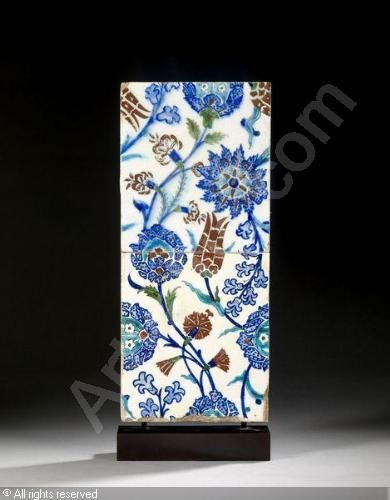 IZNIK CERAMIC, 16 > (Turkey) Title : PANNEAU Date : PANNEAU sold by Artcurial – Briest, Poulain, F. Tajan, Paris, on Wednesday, February 08, 2012