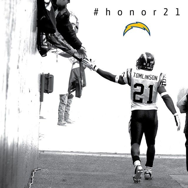 San Diego Chargers — Chargers will retire LaDainian Tomlinson's No. 21...