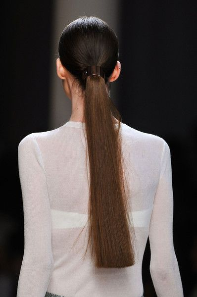Center-Parted Ponytails at Jason Wu - Best Spring 2014 Runway Hairstyles - StyleBistro
