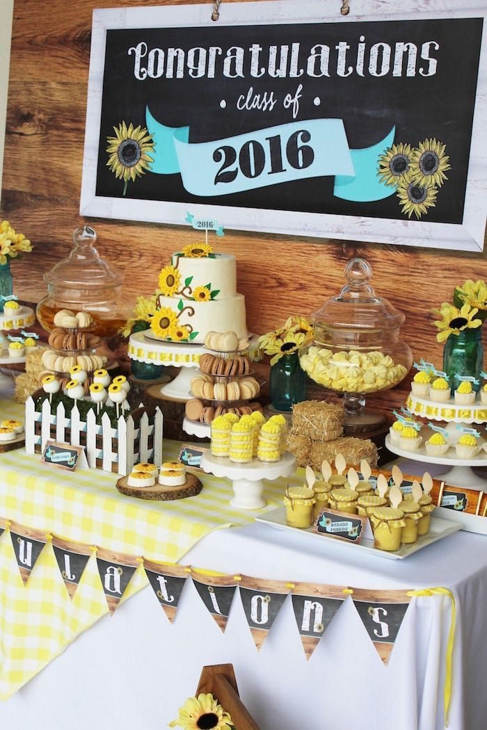 Dessert Tablescape From A Country Fair Graduation Party Via Karas Ideas KarasPartyIdeas
