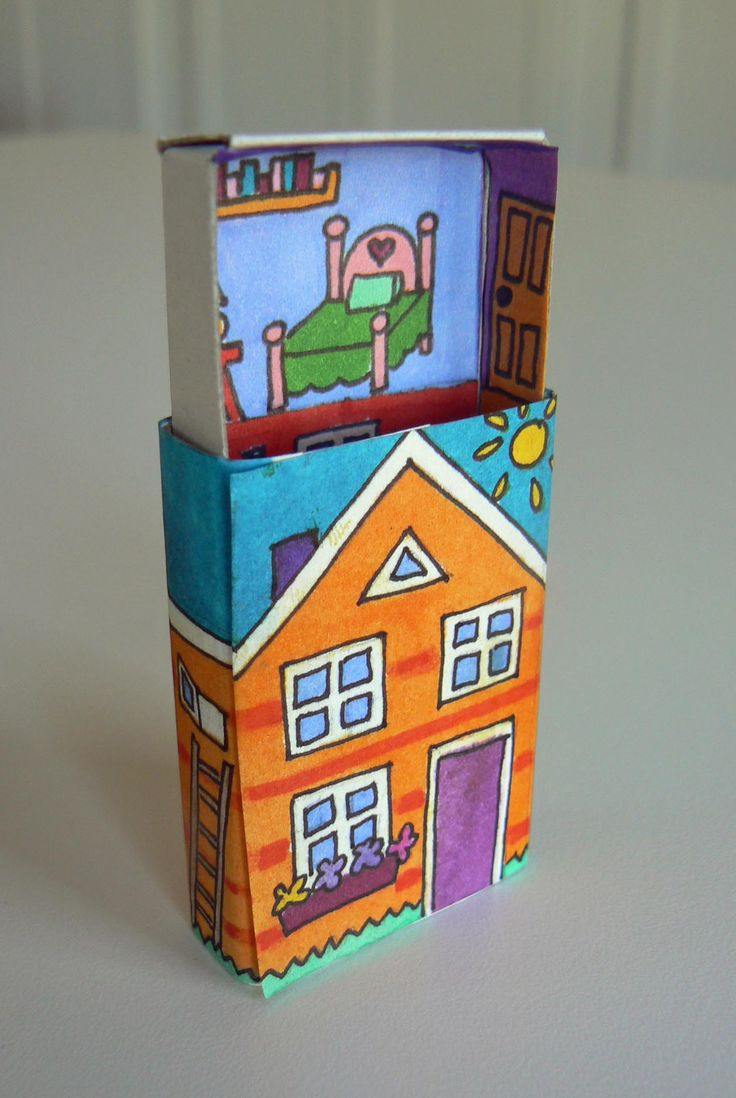 sliding doll house. The upper floor slides up the top and then you can slide it down for the bottom floor!