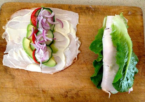Turkey lunch wrap! Wow that looks good!!