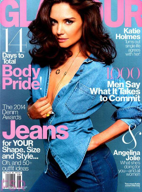 Katie Holmes pour le magazine Glamour
