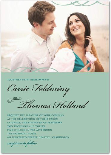 Elegant Occasion - Signature White Wedding Invitations - Magnolia Press - Basil - Green : Front