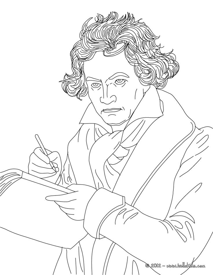 c4586864e310eed9a835b29714f6546e pages to color free printable coloring pages 15 best images about classical education beethoven on pinterest on beethoven worksheet