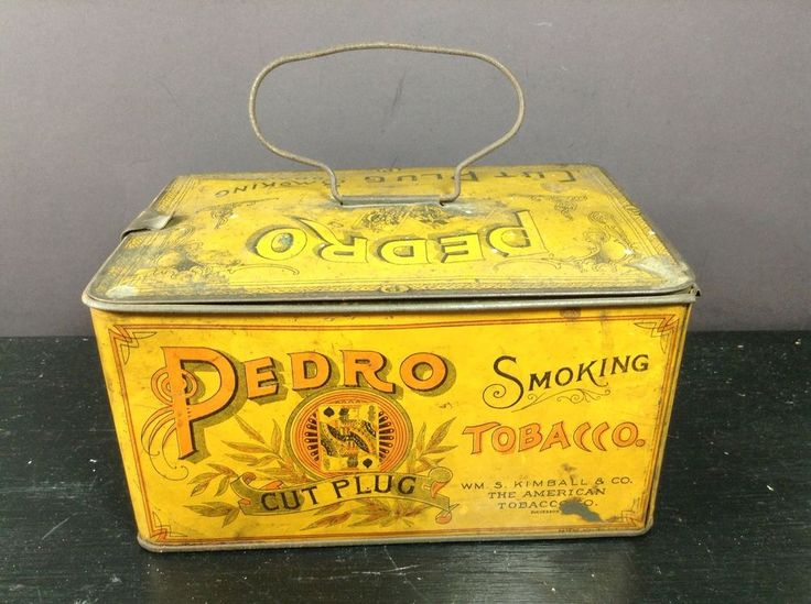 Pedro Cut Plug Smoking Tobacco Tin Lunch Box Nice