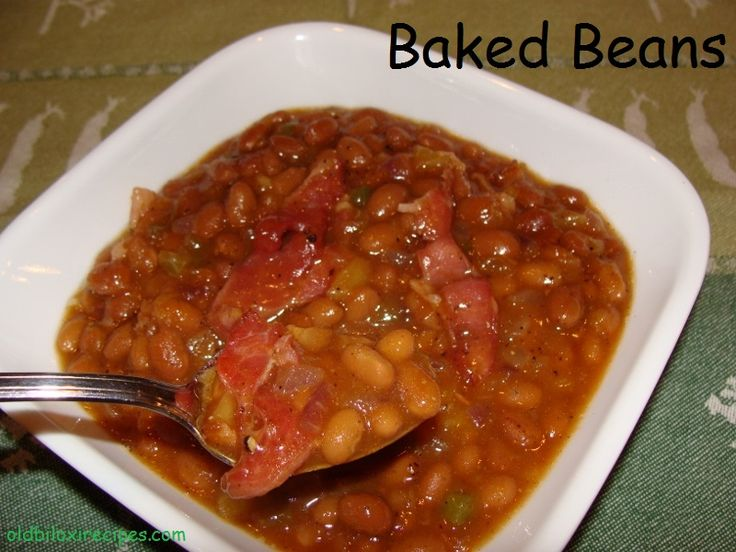 BAKED BEANS Old Biloxi Recipes 2 cookbook, page 45 RECIPE:  https://www.facebook.com/notes/old-biloxi-recipes-by-sonya-fountain-miller/baked-beans-submitted-by-sonya-fountain-miller/10152951923728914