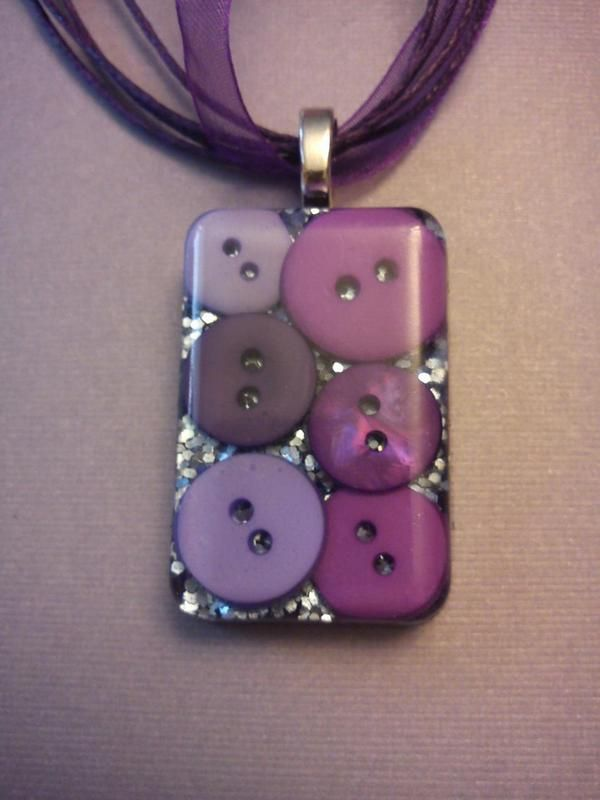 Button Resin Pendant ∙ Creation by ZavodnyeKlouny on Cut Out + Keep