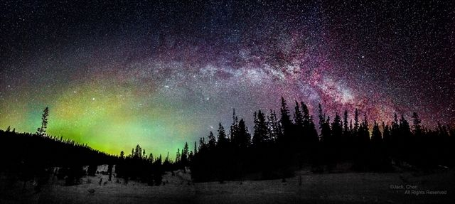 Milky way with Aurora- Norway by Chen Ding Yuan