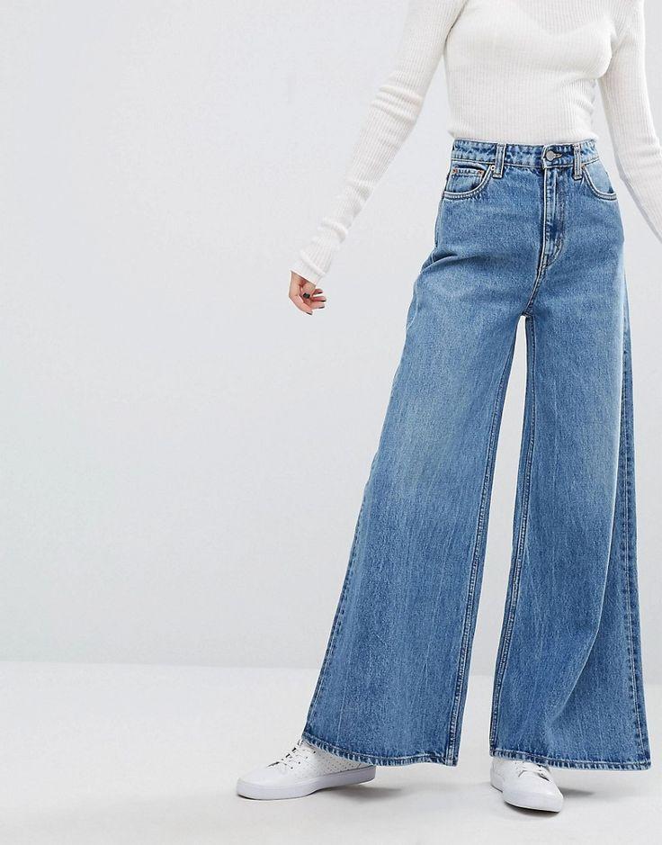 Weekday A-Line Wide Leg Jeans