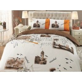 Hobby Home Istanbul maro - Lenjerie de pat din bumbac ranforce 2 persoane