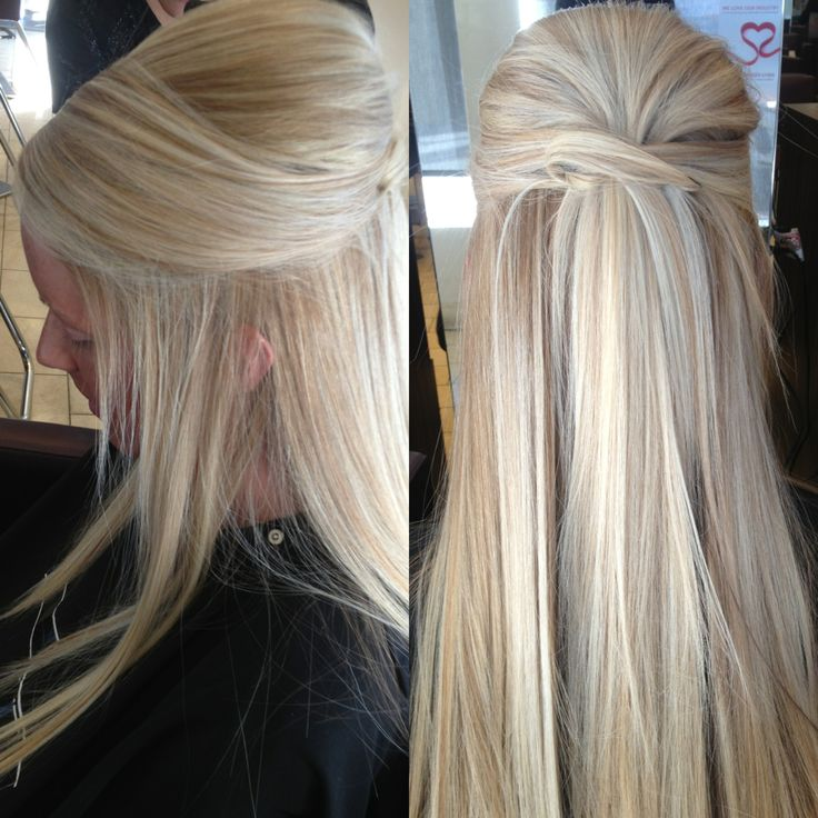 straight wedding hair